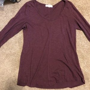Forever 21 maroon long sleeve T-shirt
